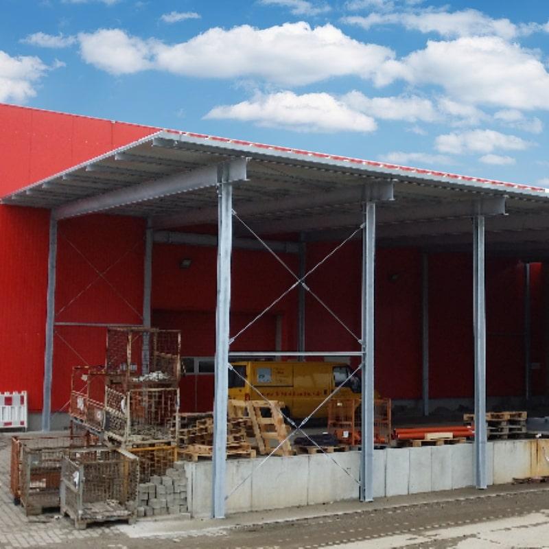 Freitragende Dachkonstruktion 320m2