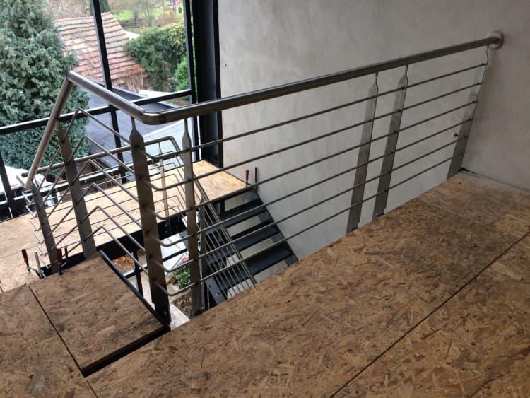 Treppenhaus mit Fassade 3